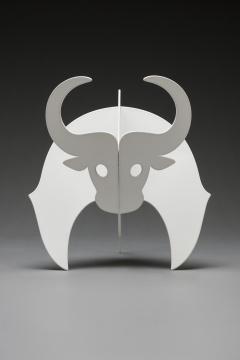 杨东鹰 《白牛》53×34×33cm 9版铁喷塑 2021