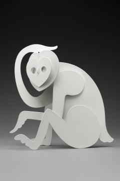 杨东鹰 《猴王》 58×32×62cm铁喷塑 2020