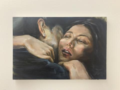 陈晗 《无声》 60×90cm 布面油画 2020