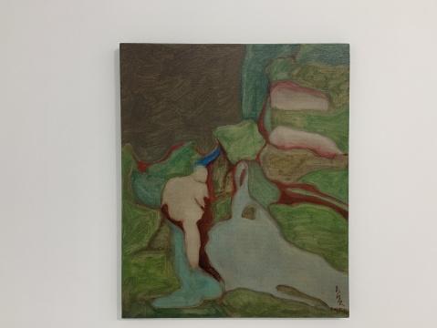 《溪梦》60× 50 cm 布面油画 2020