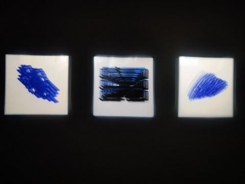 艺术家郭煜参展作品《2021结构线》
