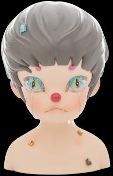 郝朗艺术衍生雕塑《哭泣的少年》将在得物APP提供专属版本