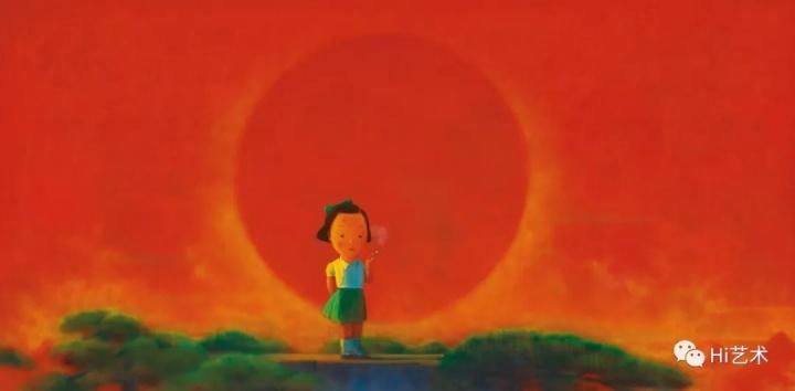 """刘野 《烟》 178×356.5cm亚克力画布 2001-2002 成交价:4732.91万元,刷新艺术家个人拍卖纪录 2019香港苏富比秋拍""""吉利翁·库维中国当代艺术珍藏"""""""