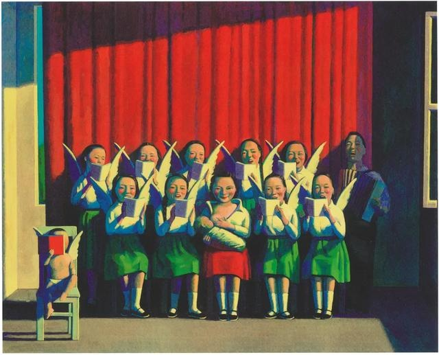 刘野 《北京圣母》80×100cm 丙烯油画 1994-1995  流拍  1995香港苏富比