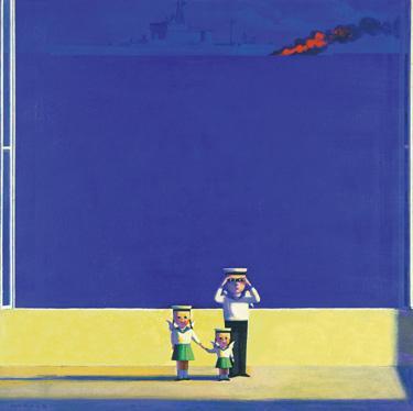 刘野 《看得见海的房间》89.5×89.5cm 油画画布 2003  成交价:53.42万元  2005香港苏富比