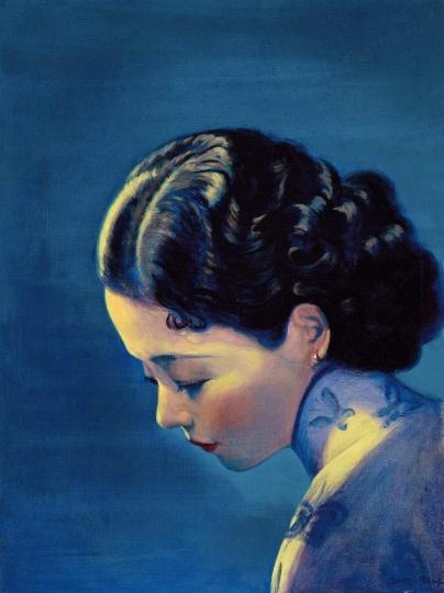 刘野 《阮玲玉之三》 60×45cm 布面油画 2002 成交价:295万港元 2015保利香港秋拍