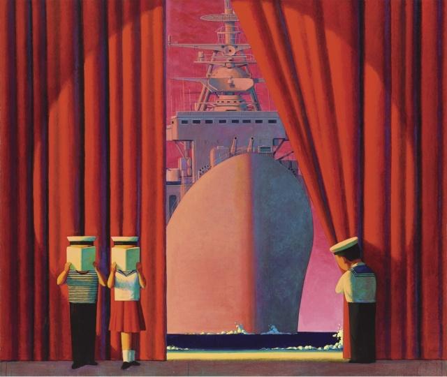 刘野 《无题》170×200cm 油画画布 1997-1998  成交价:1142.24万元  2008年香港苏富比秋拍