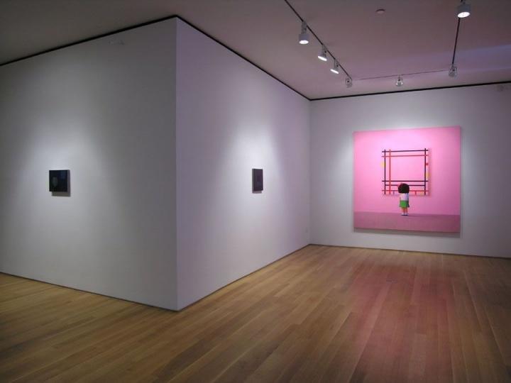 """""""诱惑""""刘野个展现场Sperone Westwater 画廊,纽约 2006图片致谢:Sperone Westwater画廊"""