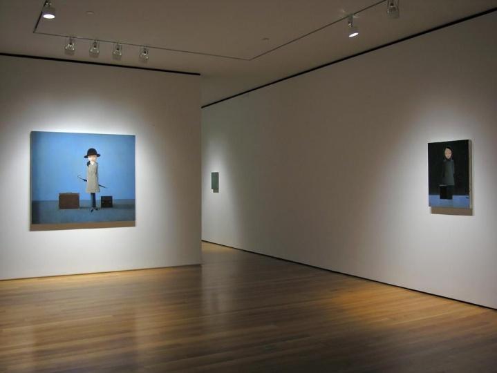 """""""刘野 :留我在黑暗中""""展览现场 Sperone Westwater画廊,纽约 2009 图片致谢:Sperone Westwater画廊"""