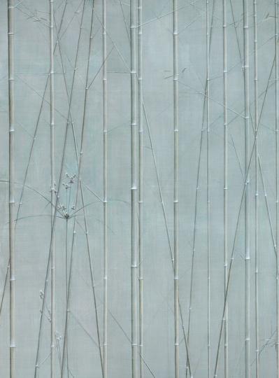 刘野《竹草图》 300×220cm 布面油画 2007  成交价:1035万元  2018中国嘉德春拍