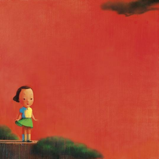 刘野《红2号》195×195cm 布面油画、亚克力彩 2006  成交价:484万港元  2016佳士得香港春拍