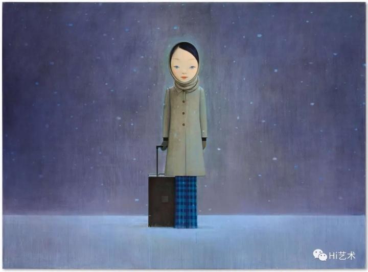 刘野 《让我留在黑暗里》 219.7×299.7cm 压克力画布 2008  成交价:4099.46万元,  2020香港苏富比当代艺术晚拍