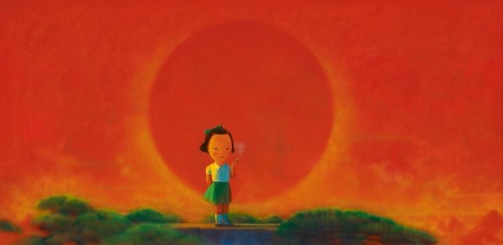 刘野 《烟》 178×356.5cm亚克力画布 2001-2002  成交价:370.4万港元  2006香港苏富比春拍