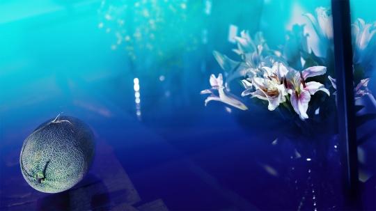 《格物系列-蓝色21# 》 84.3×150cm艺术微喷 2020