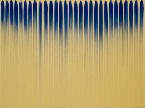 和美术馆馆藏 《从线开始 No.780132》 李禹焕,布面油画,1978,©和美术馆