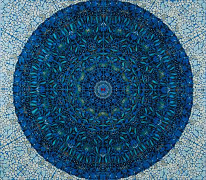 和美术馆馆藏 《神圣》 达明安·赫斯特 蝴蝶拼画,2007 ,©和美术馆