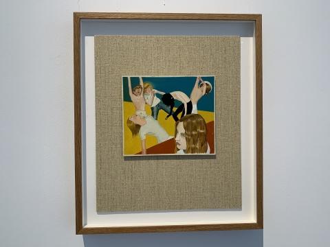 延斯·梵歌 《Anomie&Bonhomie》 56.2×48.3×5cm 板上油画、墨、织物 2018