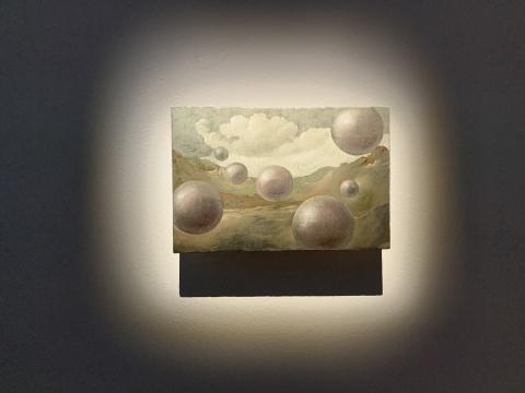 洛朗·格拉索 《Studies into the past》木板上油画与钯金箔