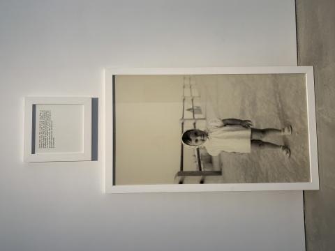 苏菲·卡尔 《Wait for me》 170×100cm照片、铝片、文字、外框 2010
