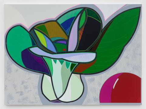 高露迪《油菜 》200×270 cm 布面丙烯,水彩,油漆 2020 ,图片由艺术家和空白空间提供