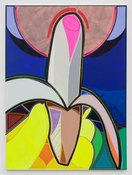 高露迪《小香蕉》270×200 cm布面丙烯,水彩,油彩,油漆 2020-2021,图片由艺术家和空白空间提供