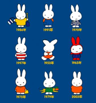 米菲兔,诞生于1955年,是荷兰画家迪克·布鲁纳创作的经典动画人物。图片来源:http://www.miffy.com.cn
