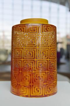 《犀皮琉璃》18x18x 28cm 手工吹制玻璃2020