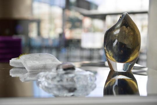 《新罗马》 系列22x15 x 13cm玻璃,木头,苔藓2015