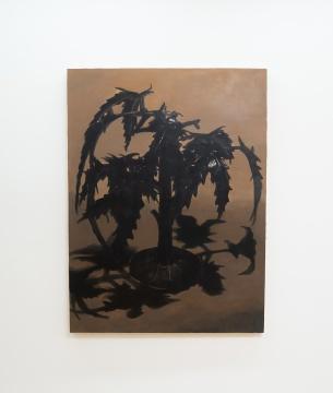 詹翀 《树》120×160cm 木板丙烯 2019 展览现场图