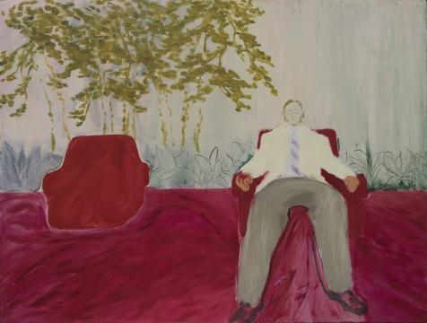 王晓曲 《椅子上的人》60cm × 80cm 布面油画 2016