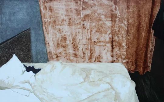 向梓綦 《房间》50cm × 80cm 木板油画 2017