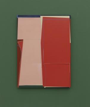 钱佳华 《重塑红色》160x120cm 布面丙烯 2020-2021