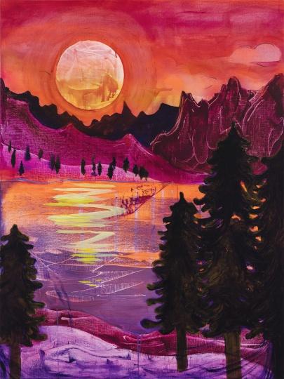 《落日》120×90cm 布面油彩、丙烯 2020