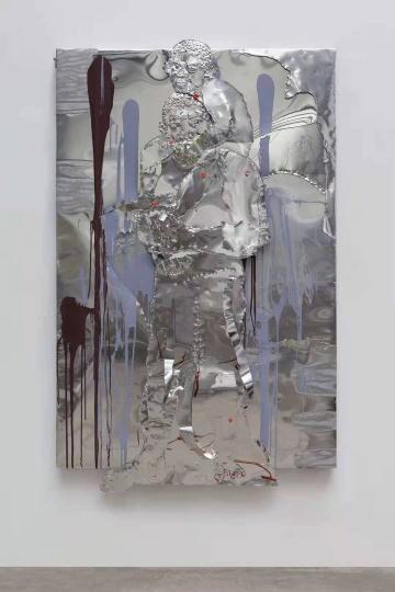 《眺望》 180×120cm铝板、马克笔、丙烯 2020