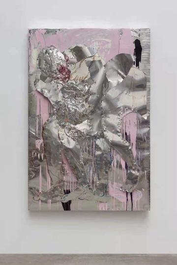 《交织》180×120cm铝板、马克笔、丙烯 2020