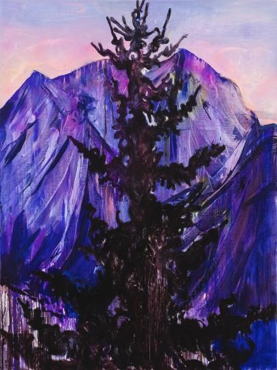 《远处一棵树NO.2》200×150cm 布面油彩、丙烯 2020