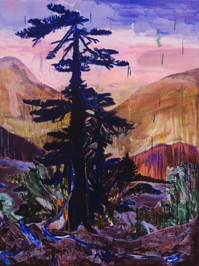 《远处一棵树NO.3》200×150cm 布面油彩、丙烯 2020