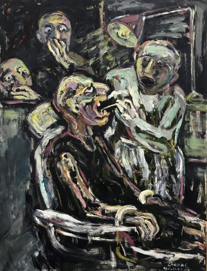 《拔牙》 145×110cm 布面油画 1990
