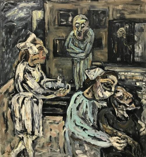 《医院》 180×160cm 布面油画 1990