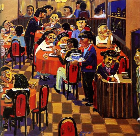 《大亨酒店》 180×160cm 布面油画 1993