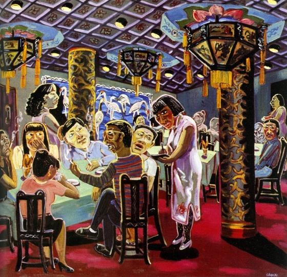 《仿膳》 180×160cm 布面油画 1993