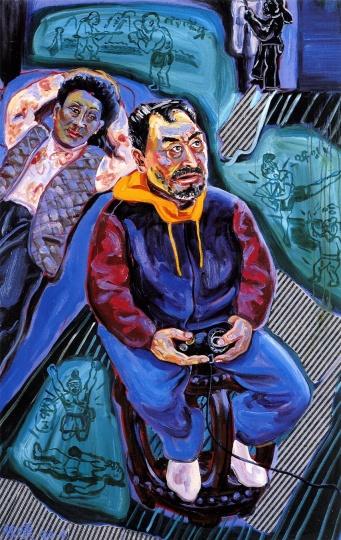 《打游戏》120×80cm 布面油画 1996