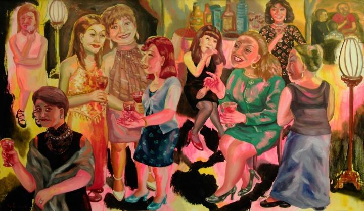 《夜宴》140×240cm 布面油画 2001