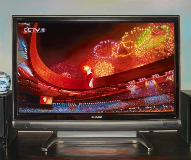 《中国记忆-奥运会开幕》150×180cm 布面油画 2010