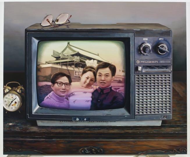 《中国记忆-只生一个好》 150×180cm布面油画 2010