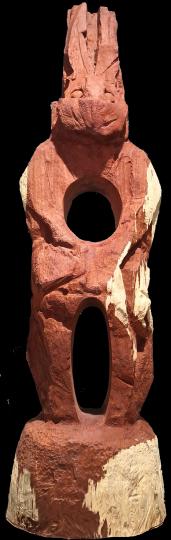 《空心兔》310×89cm红花梨木雕 2020