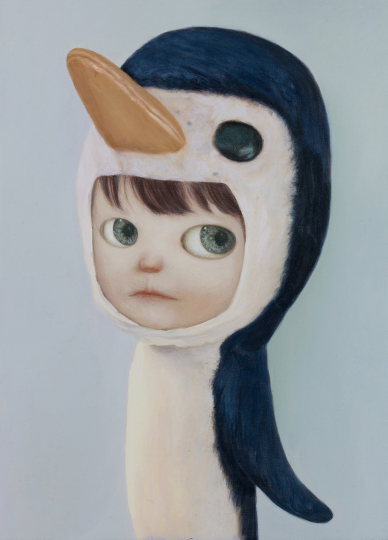 山本麻友香 《小企鹅男孩》(LITTLE PENGUIN BOY)45x33cm 布面油彩 2020 毛壮收藏