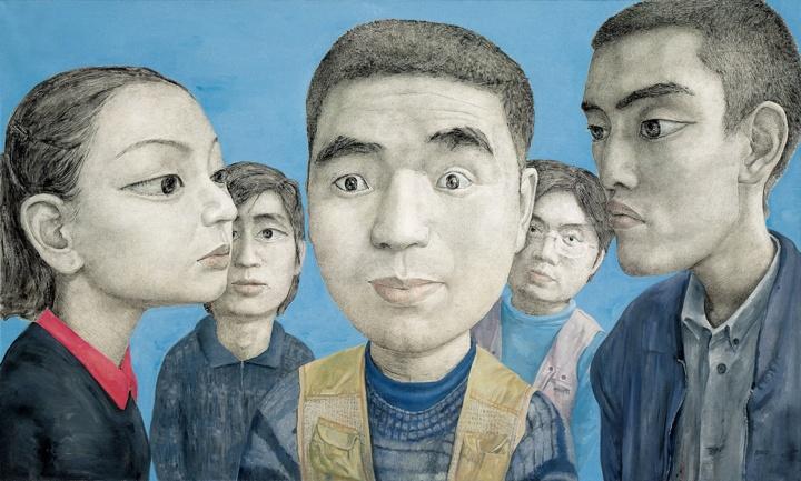 忻海洲 《变动No.2》 180×300cm布面丙烯 1999