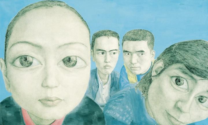 忻海洲 《变动No.1》180×300cm布面丙烯 1999