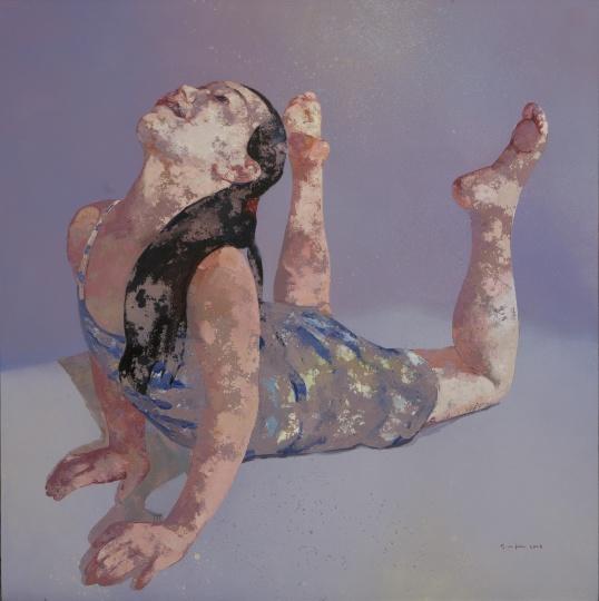 郭晋 《杂技女孩》 200x200cm 布面油画 2007